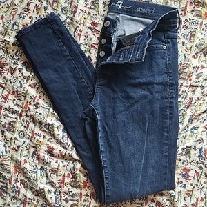 7fam 28 button fly high rise skinny jeans